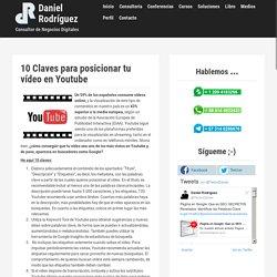 10 Claves para posicionar tu vídeo en Youtube