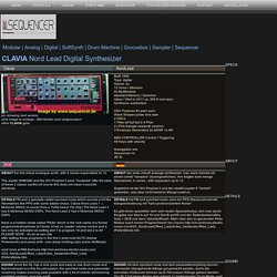 Clavia Nord Lead Digital Synthesizer