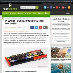 Un clavier en LEGO 100% fonctionnel, la preuve en vidéo