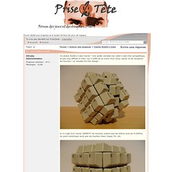 Clavier Rubik's Cube
