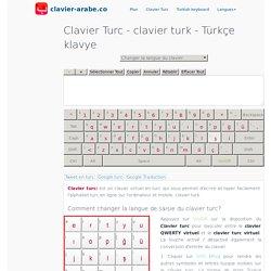 Clavier Turc ™ clavier turk - taper l'alphabet turc
