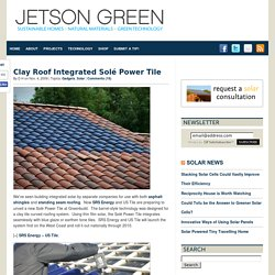 Clay Roof Integrated Solé Power Tile