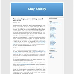 blog - Clay Shirky