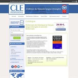 dictionnaire de didactique du FLS