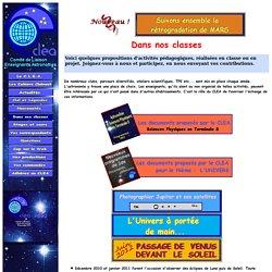 CLEA Astronomie en classe