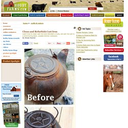 Clean & Cure Cast Iron