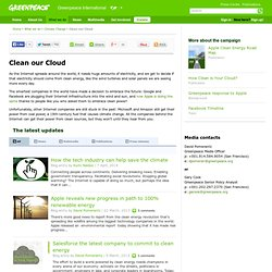 Clean Apple's Cloud | Greenpeace
