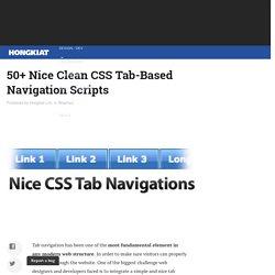 50+ Nice Clean CSS Tab-Based Navigation Scripts
