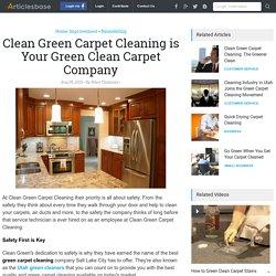 Looking for Utah Green Cleaners