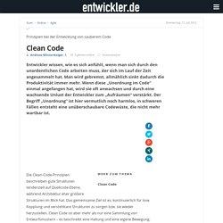Clean Code - entwickler.de