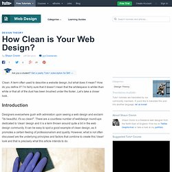 How Clean is Your Web Design?