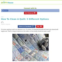 How to Clean a Quilt: 5 Different Options – Crafty House