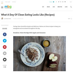 What A Day Of Clean Eating Looks Like (Recipes)
