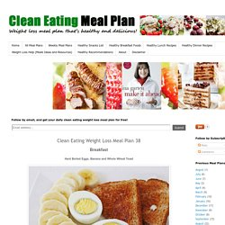 Clean Eating Weight Loss Meal Plan 38