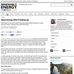 Clean Energy 2010 Trending Up
