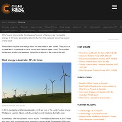 Clean Energy Council - Wind energy