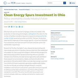 Clean Energy Spurs Investment in Ohio