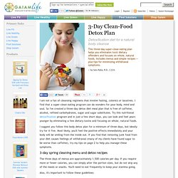 3 Day Clean-Food Detox Plan