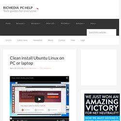 Clean install Ubuntu Linux on PC or laptop