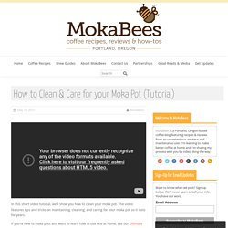How to Clean a Moka Pot (Care Instructions) ⋆ MokaBees
