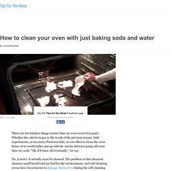 How to clean your oven with just baking soda and water