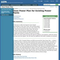 Clean Power Plan for Existing Power Plants