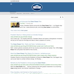clean power - The White House Search Results