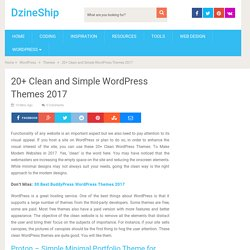 20+ Clean and Simple WordPress Themes 2017