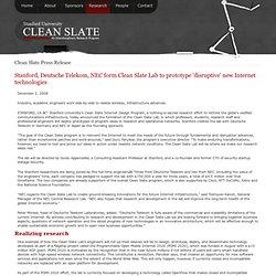 Clean Slate Press Release