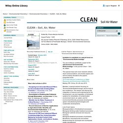 CLEAN – Soil, Air, Water