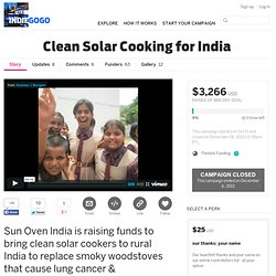 Clean Solar Cooking for India