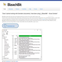 BleachBit - Clean Disk Space, Maintain Privacy