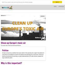 Clean up Europe's toxic air