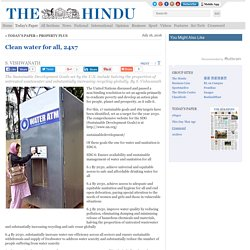 Clean Water For All - The Hindu