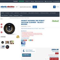 iRobot Roomba 980 Robot Vacuum Cleaner - Black / Brown