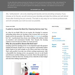 e2 Dry Cleaner: 5 useful to choose the Best Dry Cleaning Service near You