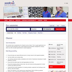 Jobs and careers with Sodexo