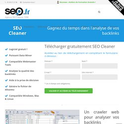 Cleaner - Logiciel d'analyse de backlinks