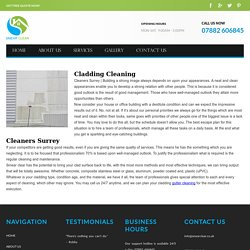 cleaners surrey - Cladding Cleaning