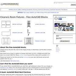 Cleaners Room Fixtures - Free AutoCAD Blocks - Draftsperson.net