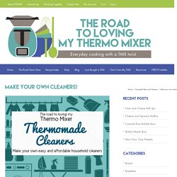 Make your own cleaners! – The Road to Loving My Thermo Mixer