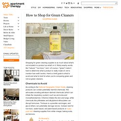 Green Cleaners - Shopping Guide