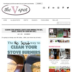 The V Spot: Cleaning Stove Burners & Grates using Ammonia (The best, easiest, cheapest way EVER.)