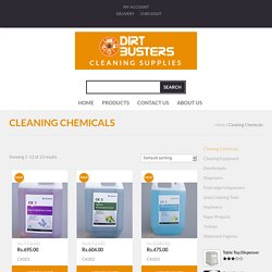 Cleaning Chemicals Archives - Dirt Busters