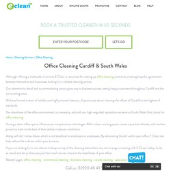Office Cleaning Cardiff, Business Cleaning South Wales