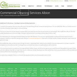 Commercial Cleaning Services Albion