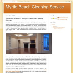 Some Concerns About Hiring a Professional Cleaning Company