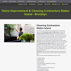 Cleaning Contractors Staten Island