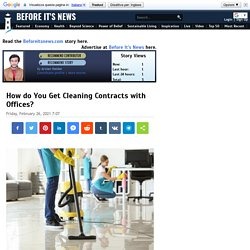 How do You Get Cleaning Contracts with Offices?