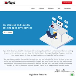 Dry cleaning & Laundry Booking & Delivery apps development